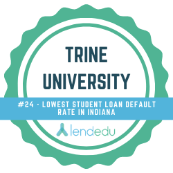 Low default on student loans in Indiana