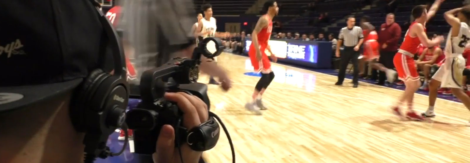 Video at basketball game
