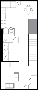 Three Bedroom, first floor