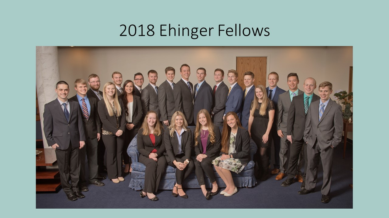 2018 Ehinger Fellows