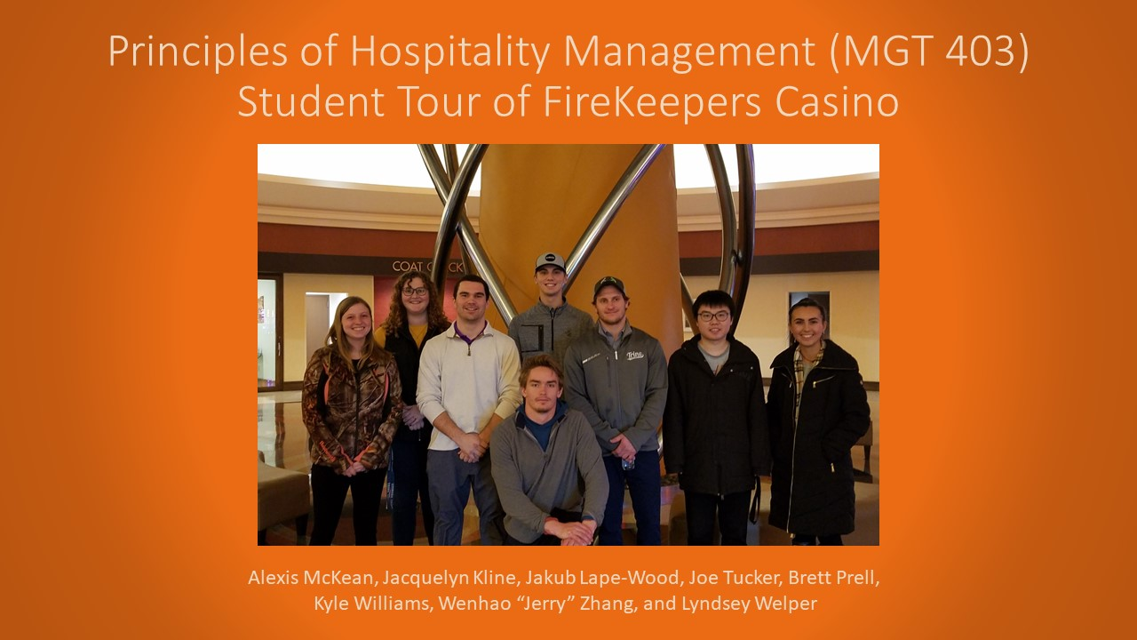 Hospitality Course to FireKeepers