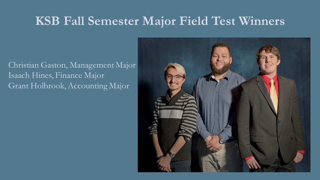 Fall Major Field Test Winners