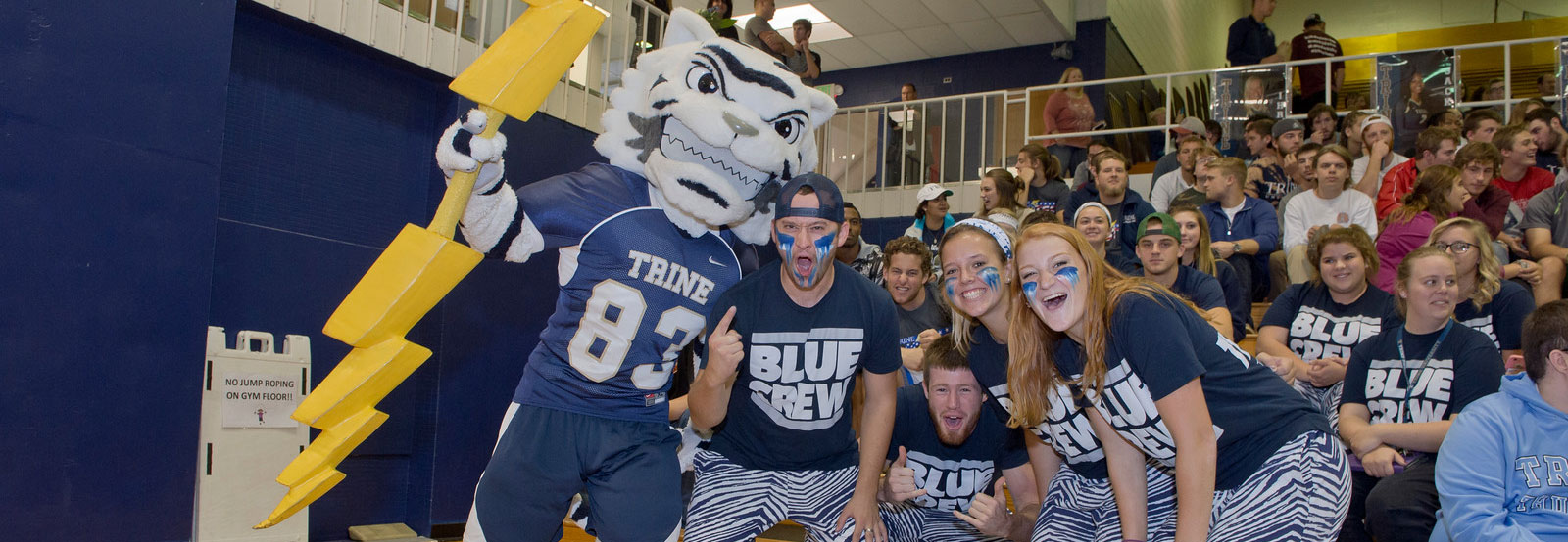 Blue Crew students