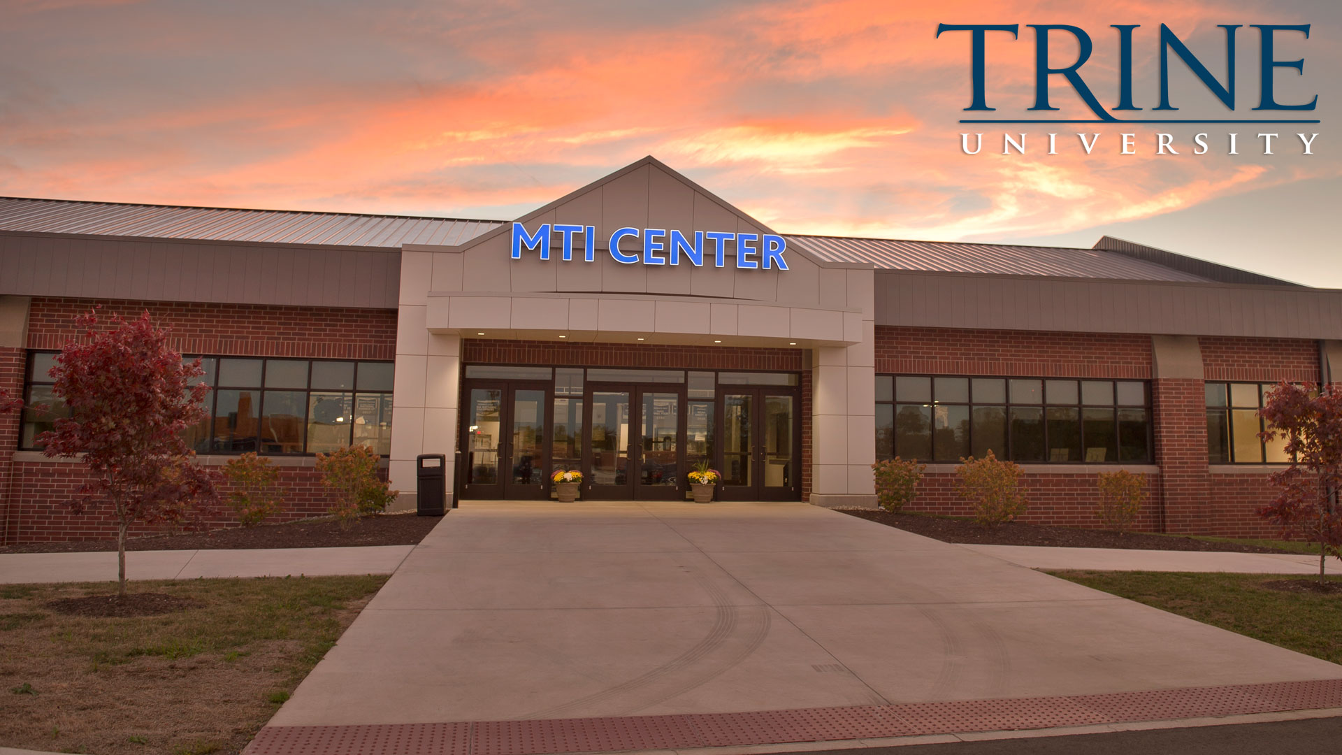 MTI Center enterance at dusk