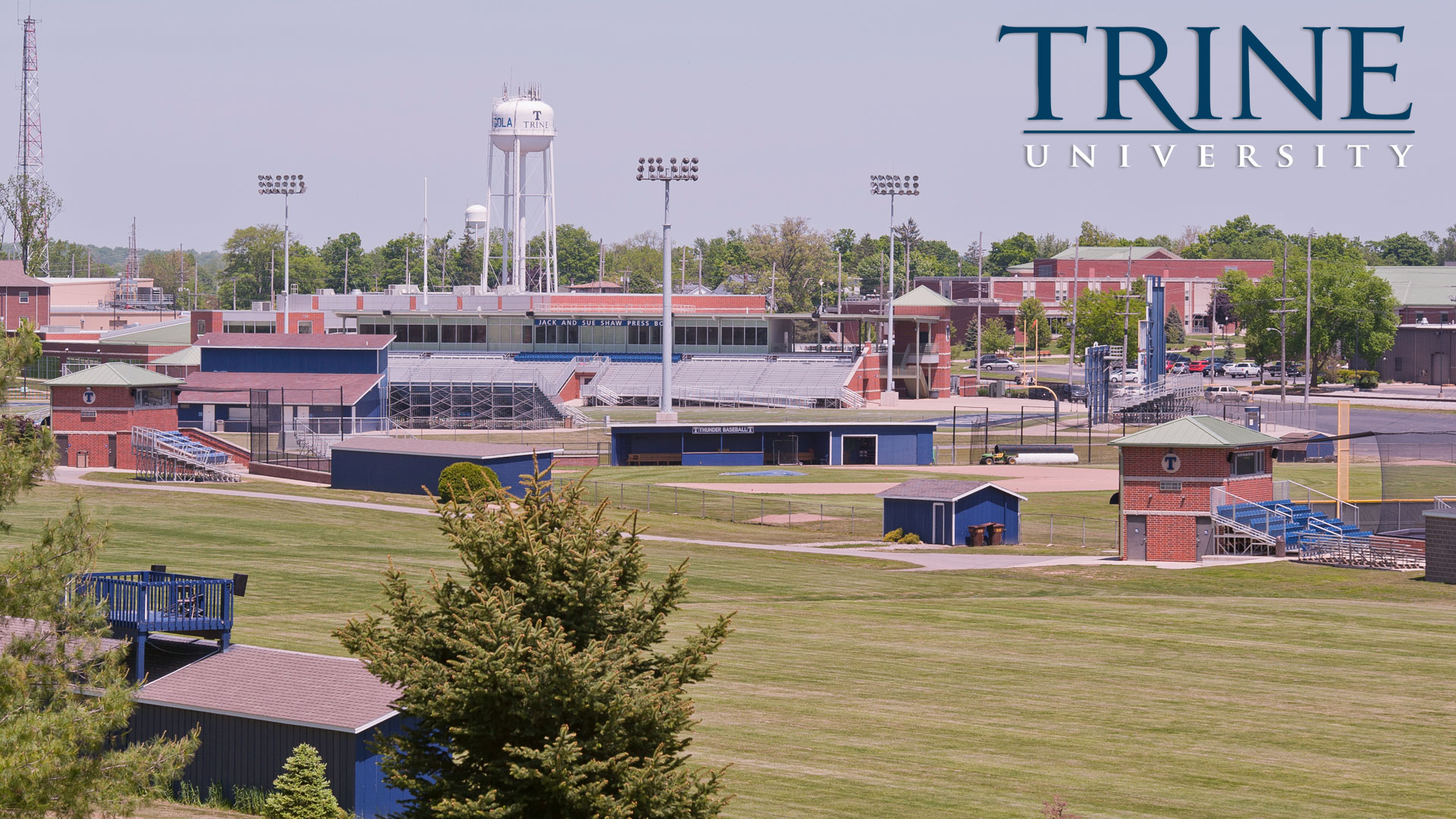 Softball, Baseball and Football fields at Trine