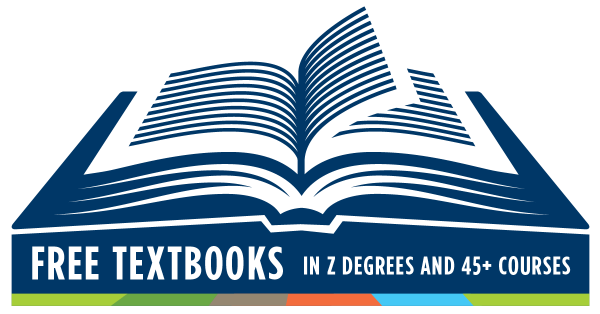 Free textbooks with Z degrees and more than 45 courses